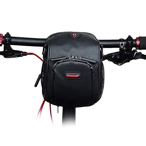 XUBA Bike Waterproof Foldable Bicycle Handlebar Bag Cycling Gear T91 matt Black 13;8;16.5cm