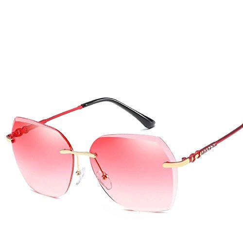 Frameless Irregular Sunglasses Decoration Personality Marine Tablets Women's Sunglasses,3