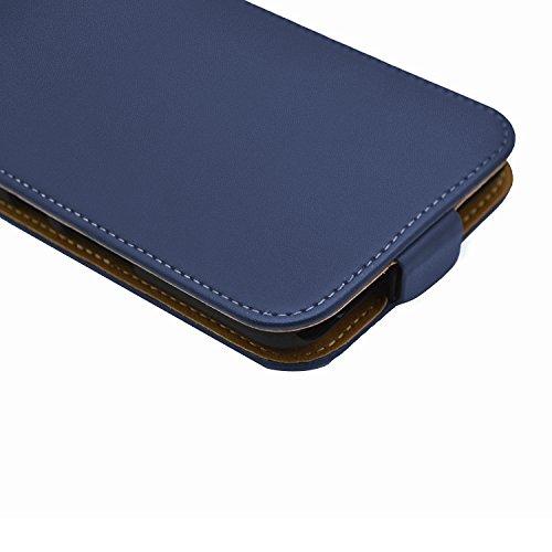 Membrane Funda Huawei Y 5II Carcasa Negro Ultra Slim Case Flip Cover Azul