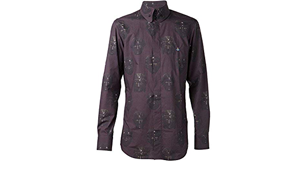 Vivienne Westwood Lila Cara Estampado Camisa Hombre 100 ...