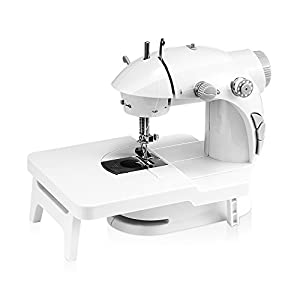 Mini Sewing Machine,Medelon Portable Electric Sewing Machine with Lamp and Thread Cutter, Foot Pedal and Extension Table from Medelon
