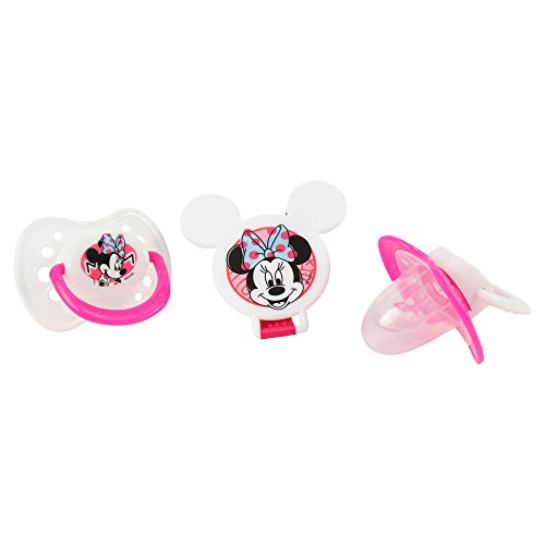Newborn Disney Pacifier - Disney Minnie Mouse and Pacifier Clip Set, Pink, 2 Count