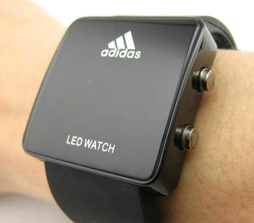 Amazon Com Adidas Led Commercial Special Edition Watch Black Watches