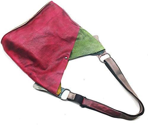 WENDYRAY Sac à Main en Cuir Vintage pour Femmes Hobo 2 en 1 avec Un Sac à Main Sac à bandoulière à la Mode Sac de Voyage pour Femme 2pcs