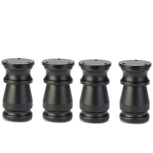 ACZZ Pie ajustable para muebles, aluminio, mueble de bano Diy, mesa de centro, sofa, patas para pies, 8-15 cm,Negro,10cm