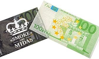SMOKE» LIKE MIDAS - Papel de liar premium de billetes de 100 euros - Pack 3 librillos (100€): Amazon.es: Salud y cuidado personal