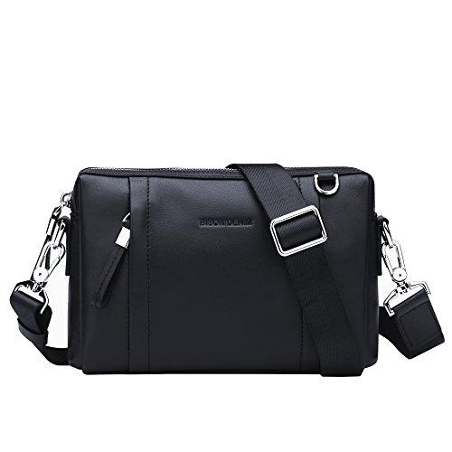 BISON DENIM Mens Genuine Leather Clutch Purse Wallet Handbag