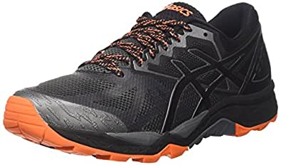 Asics Gel-Fujitrabuco 6, Zapatillas de Gimnasia Hombre, Gris (Carbon/Black/Hot Orange), 40 EU