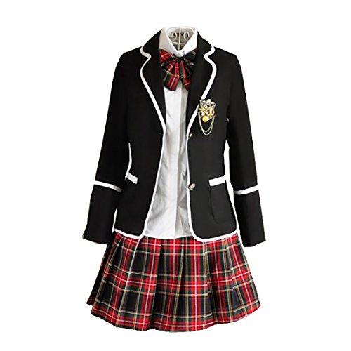 URSFUR Womens British Style Japan School Uniform Sets Cosplay Costume Anime Girl (XXL, Style 8)