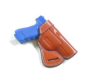 Glock 17, Glock 22, SOB - Small of The Back Concealed Carry Pistol Holster By Cebeci Arms in Tan Leather