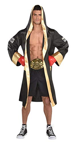 Boxing Costume Men (Amscan Boxing Robe Adult Costume Accessory Adult)