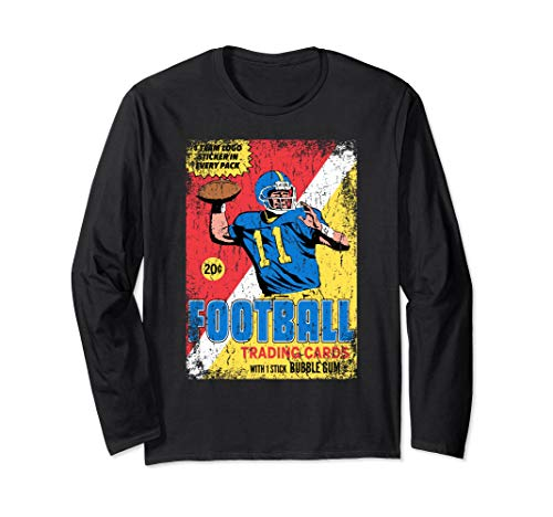 Retro Football Card Wrapper T-Shirt (Distressed/Long Sleeve)
