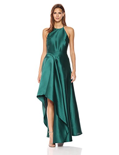 Sculptural Mischka Women's Teal Gown Satin Badgley Deep wPF8qCC
