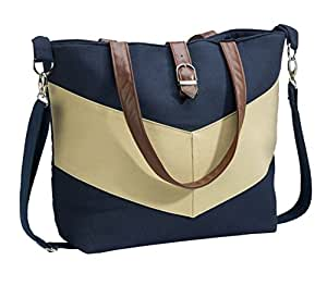 ba5e99b07f3 Amazon.com   Urban Mom Stylish Navy Tote Diaper Bag - With Matching ...
