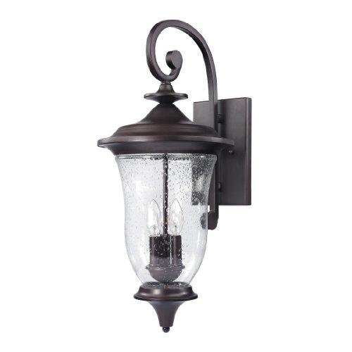 Beacon Lantern Large Wall Outdoor (Cornerstone Lighting 8003EW/75 Trinity Coach Lantern, Oil Rubbed Bronze)