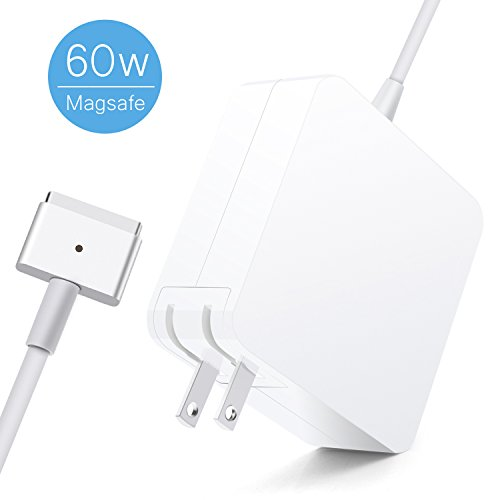 Satauko MacBook Pro Charger, 60W Magsafe 2 Mac Charger with T-Tip, MacBook Charger 60w Magsafe Power Supply for MacBook Pro/Air 13 Inch (Mid 2012 Later (Power Supply Air)