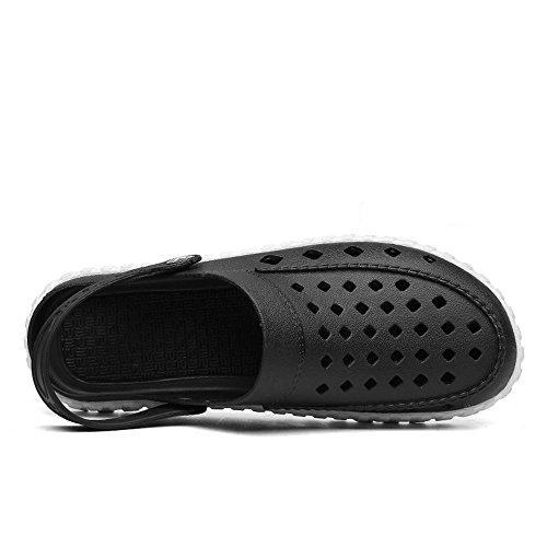 shoes Nero 2018 Flat Sandali Nero Uomo da bianco Sandali Xujw Color 41 Hollow da Men's impermeabili Dimensione On Bianco Vamp EU Heel spiaggia Slip Mules dgwq5w