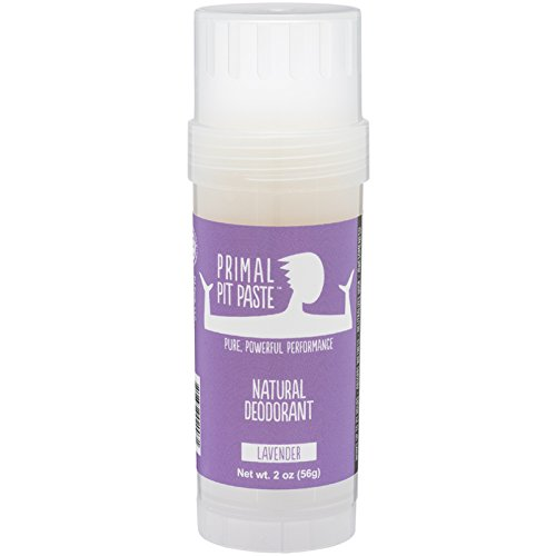 Primal Pit Paste All Natural Lavender Deodorant – Aluminum Free, Paraben Free, Non-GMO, for Women and Men – BPA Free 2 Oz Convenience Stick – Scented with Natural Essential Oils