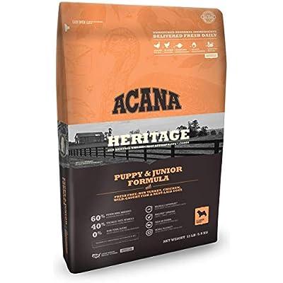 ACANA Heritage Puppy & Junior Dry Dog Food, (13 Pound Bag.)