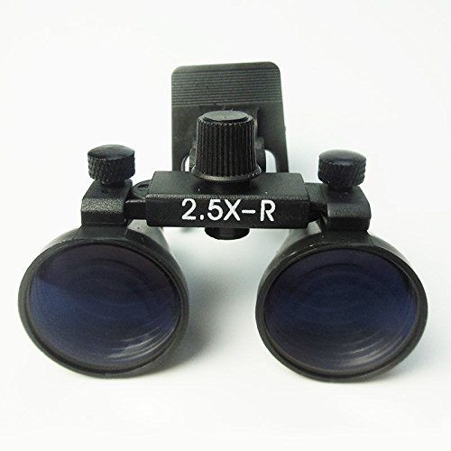 Loupe Ultra - Dental Power Dental Ultra-Light Clip-On Optical Loupes with 2.5 X 360-460mm Magnification and Ultra-Wide View Clips to Any Glasses | Gallilean Optics, Black Color, Model CM250 by Dental Power