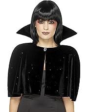Smiffys-46823 Capa de Reina Malvada, Color Negro, Tamaño único (Smiffy'S 46823)