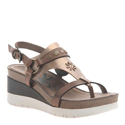(OTBT Women's Maverick Wedge Sandals - Dark Brown - 10 M US)
