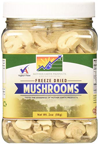 Mother Earth Products Freeze Dried Mushrooms, Quart Jar