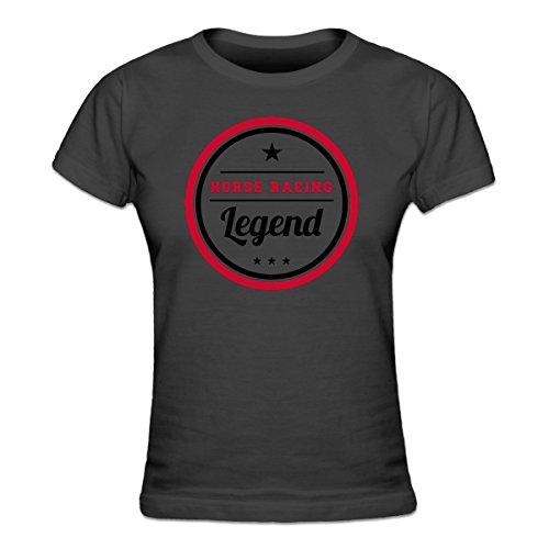 (Shirtcity Horse Racing Legend Women's T-shirt S Grey)