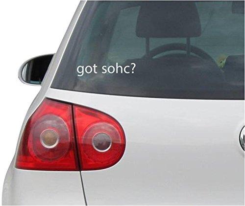 INDIGOS UG Sticker/Decal - JDM - Die Cut - Got Sohc? Decal Window Laptop Vinyl Sticker - Silver - 149mmx35mm