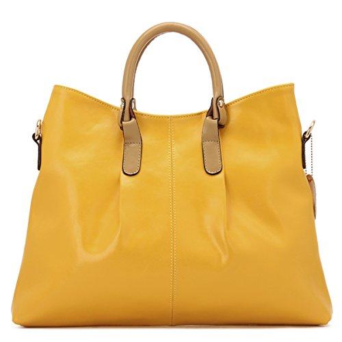 GUANGMING77 Tasche Handtasche Schultertasche Handtasche Singles Xiekua Paket Tasche yellow h0DaQKr