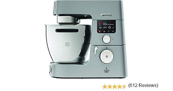 Kenwood Cooking Chef KCC9060S - Robot de cocina por inducción (20 - 180º), 1500 W, pantalla LCD, bol de 4.5 L, incluye batidora de vaso ThermoResist, procesador de alimentos y accesorios inox premium: Amazon.es: Hogar