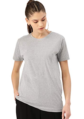 FOOTROO | Women Solid Round Neck Tshirt