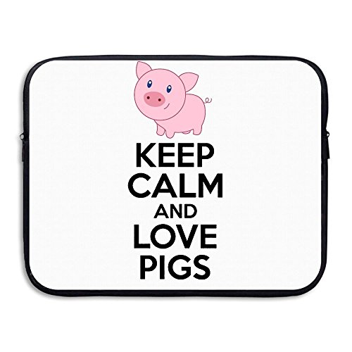 Summer Moon Fire Keep Calm And Love Pigs Laptop/Computer/Messenger/Tablet Bag With Scratch Protection Lining For Laptops Up To 15'' by Summer Moon Fire (Image #4)
