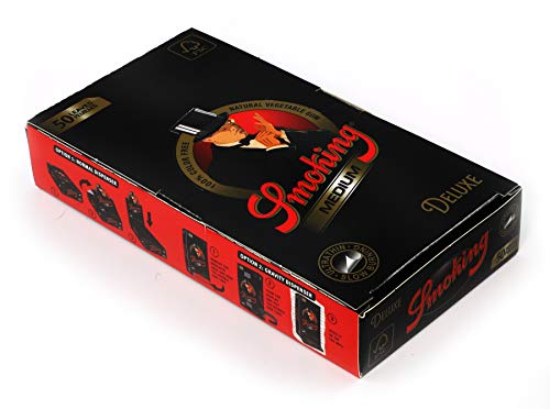 1 Box - Smoking Black Deluxe Medium Size 1 1/4 Rolling Paper = 1250 - Smoking Rolling Papers