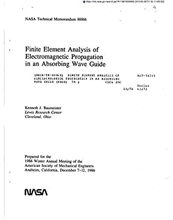Finite element analysis of electromagnetic propagation in