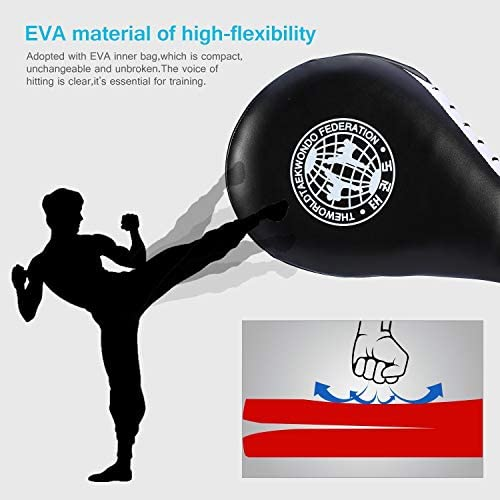 Muay Karate MMA Taekwondo Kickboxing Kwon Foot Strike Training Target Punch Pad
