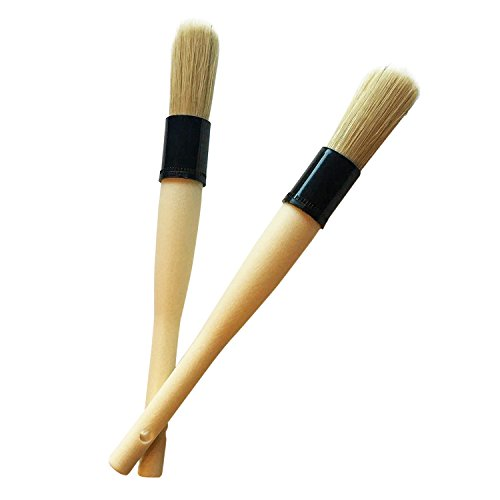Ludzelli Auto Detailing Brush Set – Interior & Exterior Crevice Brushes 2 Pack for Vent, Dash, Seats, Lug Nuts and More -Made of Durable Plastic, Easy Cleaning, No Bristle Loss and No Scratching