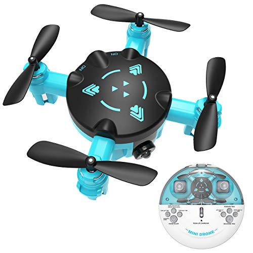 Mini Drone for Kids or Adults, Pocket RC Quadcopter with Headless Mode and Easy Charging Design, Easy Indoor Small Flying Helicopter Drone Toys for Boys or Girls