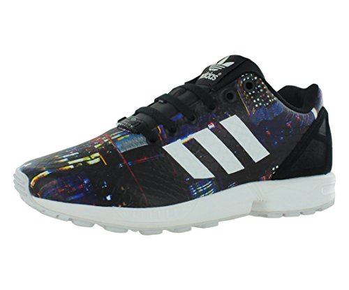 adidas Originals Women's ZX Flux W Lace-Up Fashion Sneaker, Core Black/White/Black, 10 M US (Footwear Matte Snake)