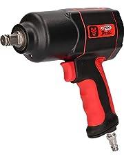 KS Tools 515.1200 THE DEVIL högpresterande trycklufts-slagnyckel, svart/röd, 1/2 tum, max. lösevridmoment 1600 Nm