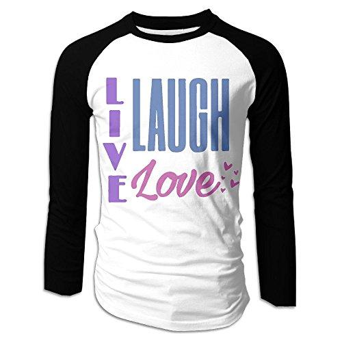 KMPLXm Men's Live Laugh Love Printed Long-Sleeve Tee by KMPLXm (Image #1)