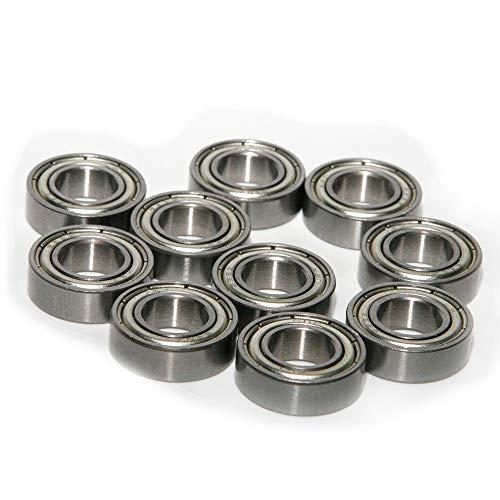 - Fixmee 10 x 668ZZ Bearing 8x16x5 Carbon Steel Shielded Miniature Metric Ball Bearings