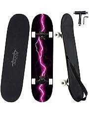 31-inch standaard skateboard, 7 lagen esdoornblad, compleet skateboard, geschikt voor kinderen, jongeren, volwassenen, beginners en professionals, met een maximale belasting van 150 kg
