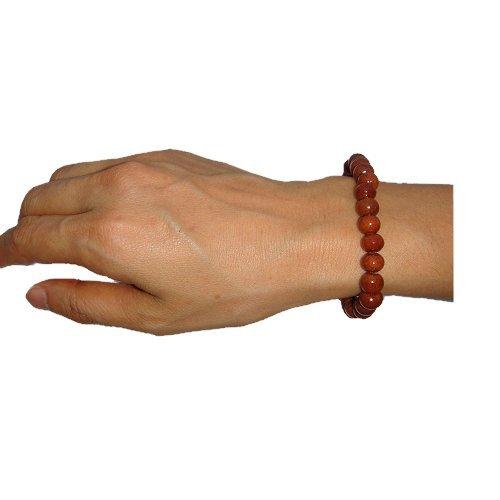Hawaiian Jewelry Small Koa Wood Bead Elastic Bracelet - 8mm