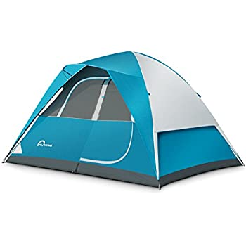 C&ing Tent - 6 Person Dome TentPortable Foldable Waterproof Outdoor Festival C&ing Dome Tent Kit (10u0027 x9u0027) ALPRANG (blueu0026white)  sc 1 st  Amazon.com & Amazon.com : Coleman Sundome Tent (10-Feet x 10-Feet) : Family ...