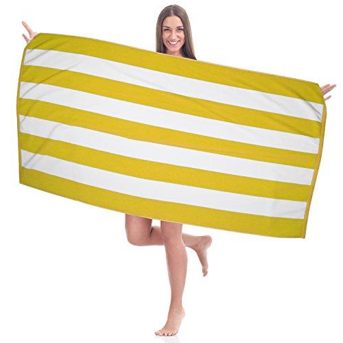 Large Turkish Beach Towel - 100% Cotton in Cabana Stripe - 35
