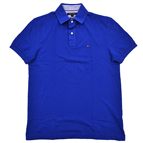 - Tommy Hilfiger Mens Custom Fit Mesh Polo Shirt (XL, Dark Blue)