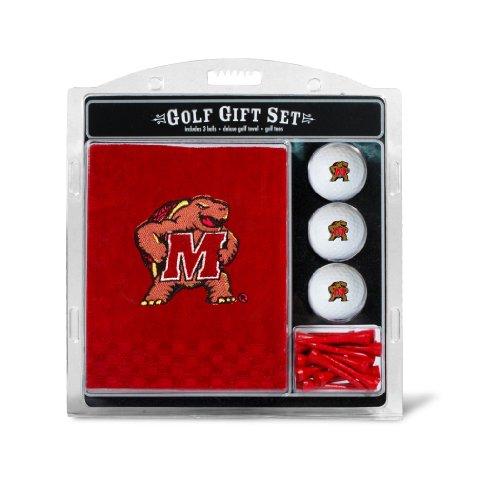 Team Golf NCAA Maryland Terrapins Gift Set Embroidered Golf Towel, 3 Golf Balls, and 14 Golf Tees 2-3/4