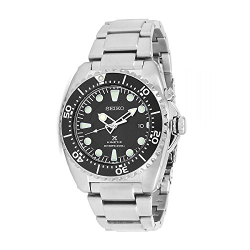 Seiko Prospex Kinetic Divers stainless steel date diver 200m 42mm watch (Seiko Kinetic Divers)