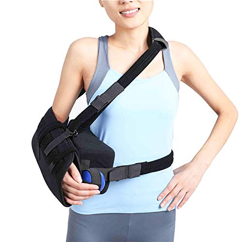 Abduction Sling - Shoulder Abduction Sling with Pillow,Injury Support - Shoulder Arm Immobilizer for Rotator Cuff, Surgery & Broken Arm - Brace Includes Pockets